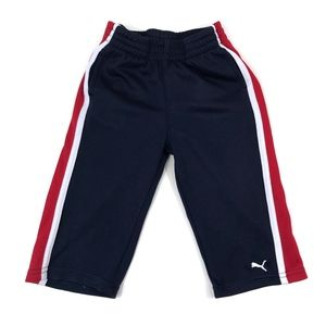 [Puma] Navy, Red, and White Colorblock Sweatpants